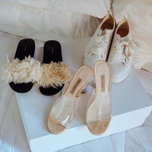 bershka white sneakers